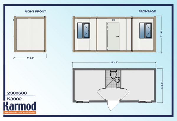 Construction Field Mobile Office Container plan