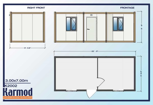 Ground Level Mobile Offices plan