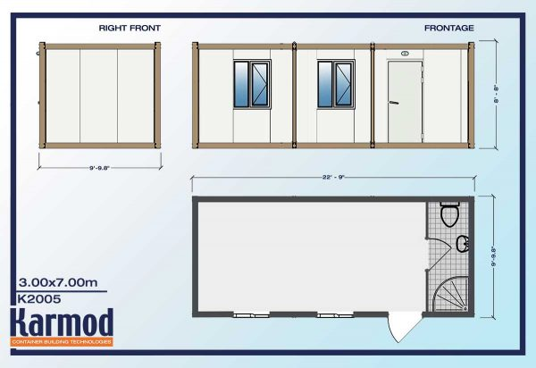 Ground Level Office or Mobile Office plan
