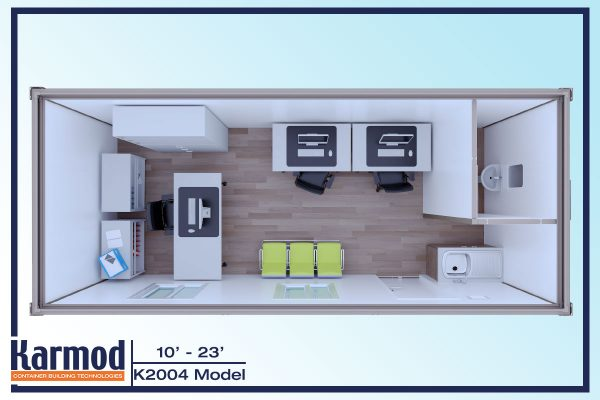 Mobile Mini Ground Level Office-3d