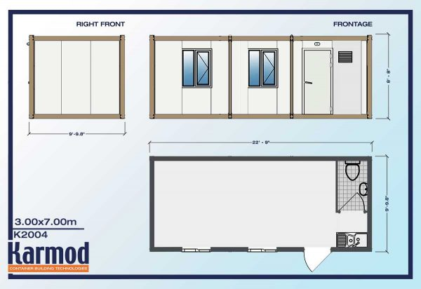 Mobile Mini Ground Level Office plan
