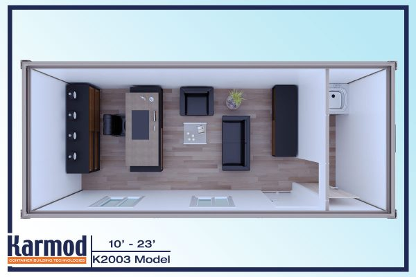 On-site Ground Level Offices 3d