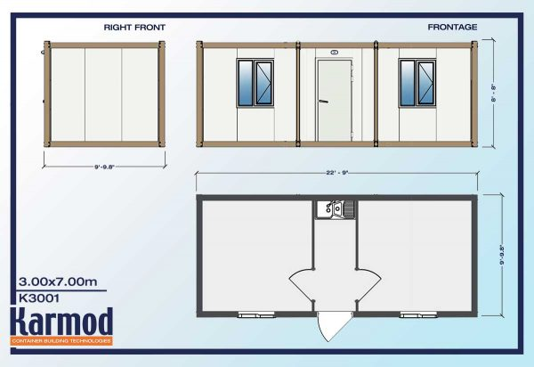 container office and storage plan