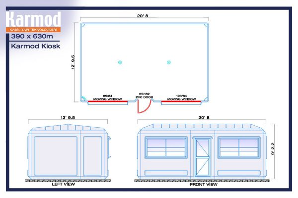 guard booth for sale plan