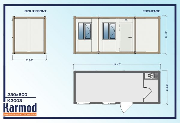 modern modular mobil container office k2003 plan
