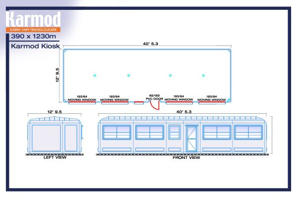 portable parking booth plan 1