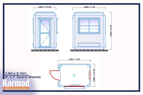 prefab guard shack plan