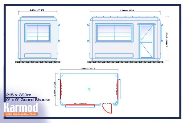 prefabricated security booths plan