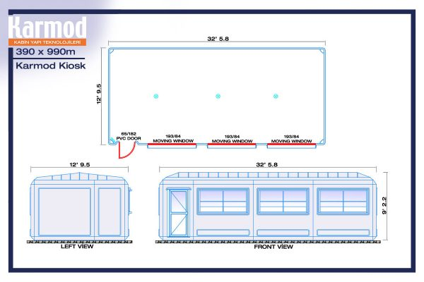 security guard booth plan