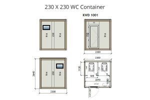 KW2 8x8 WC Container