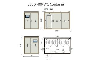 KW4 8x13 WC Container