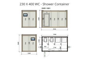 KW4 8x13 WC Shower Container 1
