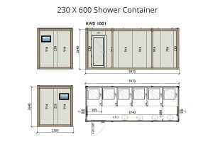 KW6 8x20 Shower Container
