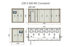 KW6 8x20 Wc Container