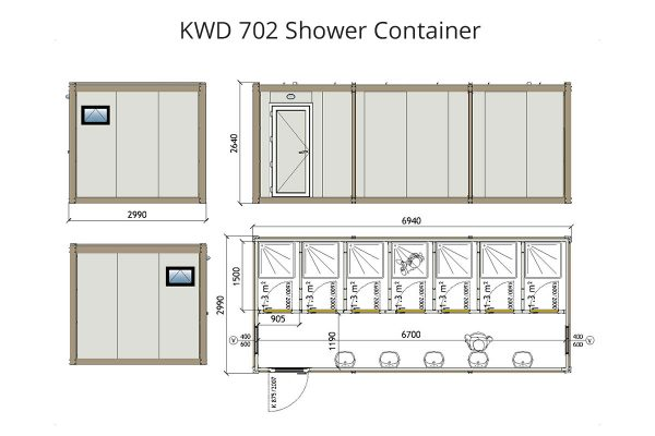 KWD 702 Shower Container
