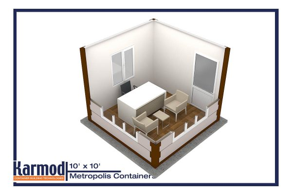 ground level container offices plan