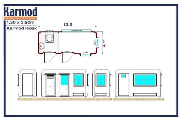 modular restrooms and shower plan