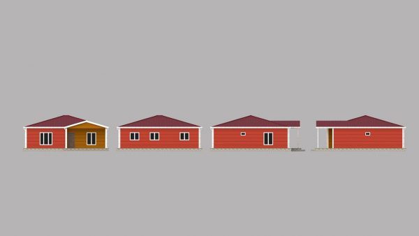 modular homes 103m2 front 1