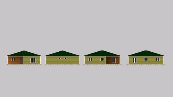 modular homes 123m2 front