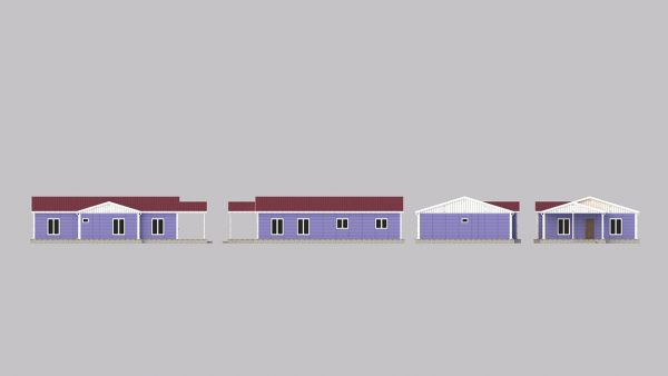 modular homes 142m2 front