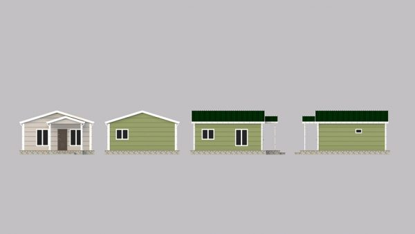 modular homes 45m2 front
