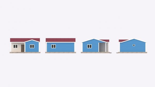 modular homes 51m2 front