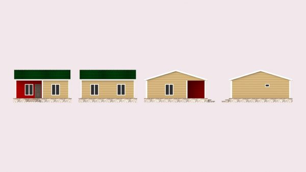 modular homes 64m2 front