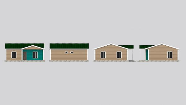 modular homes 75m2 front