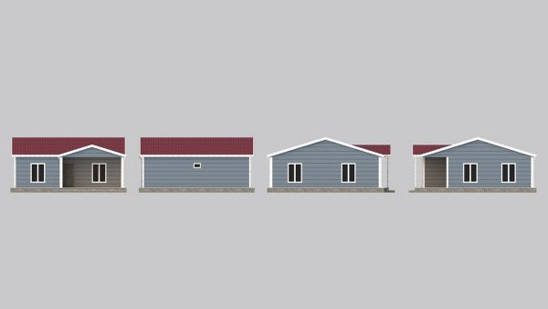 modular homes 82m2 front