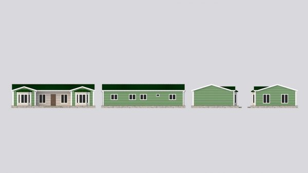 modular homes 97m2 front